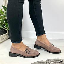 Туфли женские замшевые коричневые, фото 3