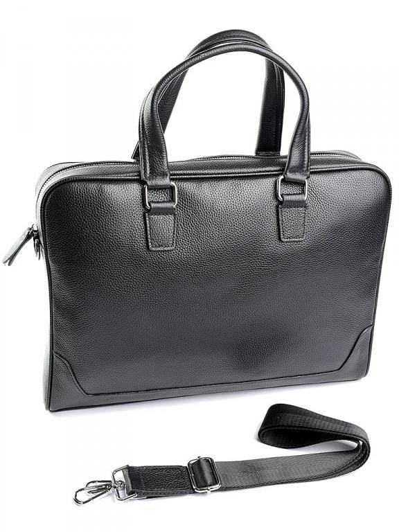 Кожаный портфель классический Case 9905-1 черный