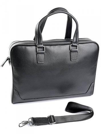Кожаный портфель классический Case 9905-1 черный, фото 2