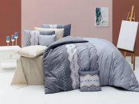 Комплект постельного белья ранфорс  Nazenin полуторный размер Ekinoks Gri
