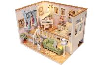 """Кукольный домик """"BECAUSE OF YOU"""" 3D Интерьерный конструктор (дерево, бумага, пластик, текстиль, LED лампы)"""