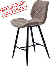 Полубарный мягкий стул DIAMOND бежевый (бесплатная доставка)