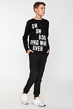 Детские спортивные штаны для мальчика Young Reporter Польша 201-0117B-02-100-1 Черный весеннии осенью