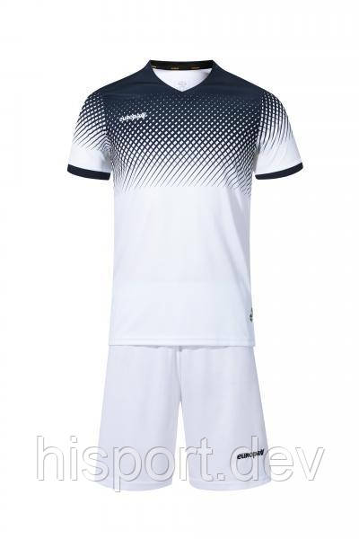 Игровая футбольная форма бело-т.синяя 024 Европав