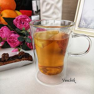 Набор кофейных чашек с двойным дном 2 шт (EZ-3021)