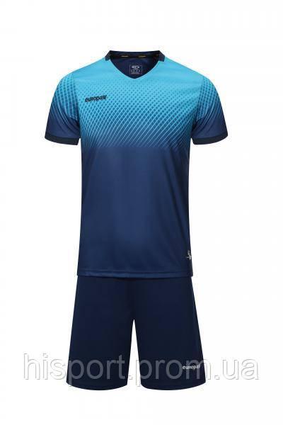 Игровая футбольная форма для команд сине-голубая 024 Европав