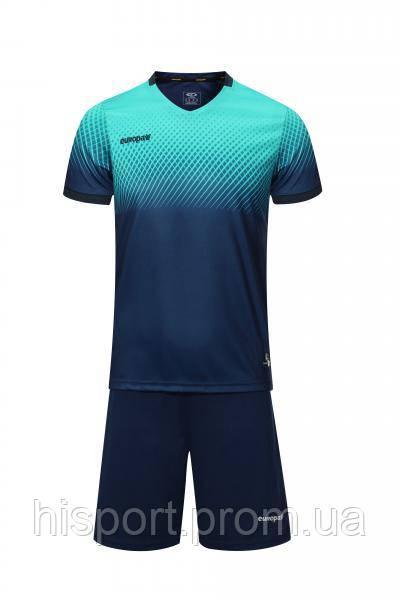 Игровая футбольная форма для команд т.сине-бирюзовая 024 Европав