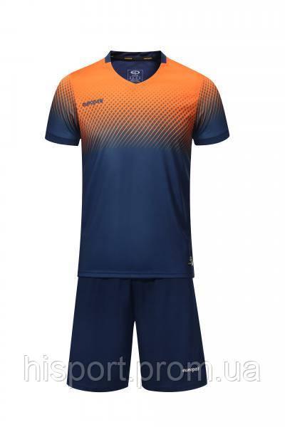 Игровая футбольная форма для команд т.сине-оранжевая 024 Европав