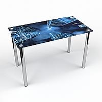 Стол обеденный на хромированных ножках Прямоугольный Megapolis