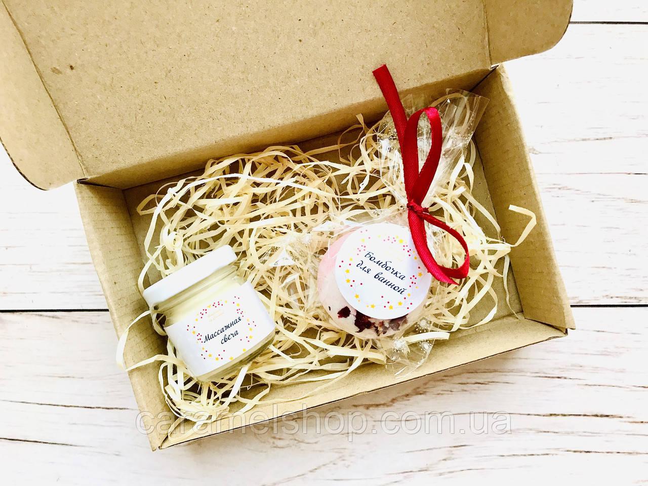 Подарочный набор ручной работы Handmade by Caramel Шар и свеча