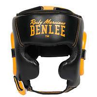 Защитныйшлем боксерский с защитой подбородка BENLEE BROCKTON (Blk-yellow)