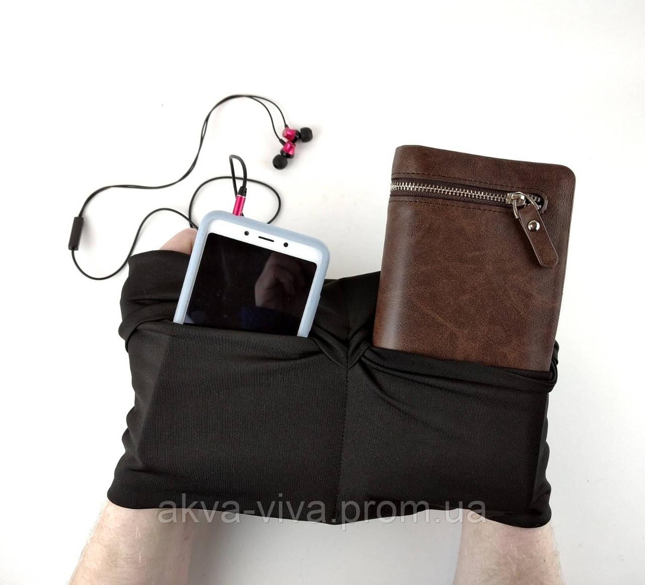 Сумка поясная спортивная для телефона, кошелька, наушников (СНП-101)