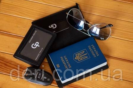 Обложка на паспорт, id-паспорт, автодокументы, Черный (пара)