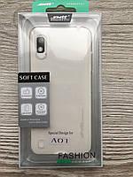 Чохол накладка для Samsung A01 (прозорий)