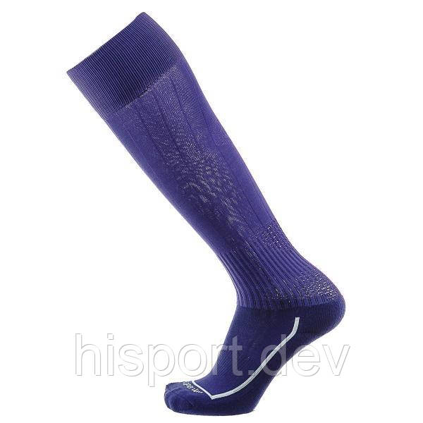 Футбольные гетры фиолетовые однотонные с трикотажным носком Европав