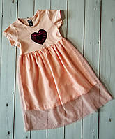 Красивое нарядное платье для девочек с яркой вышивкой пайетки-перевёртыши,см.замеры в описании!!!, фото 1