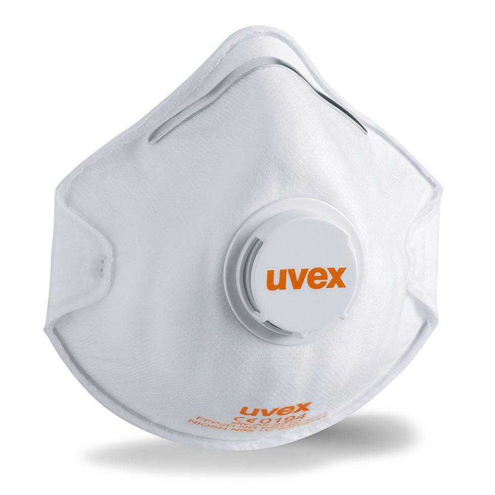 Респиратор UVEX 2210  silv-air с клапаном степень защиты FFP2 N95 NIOSH