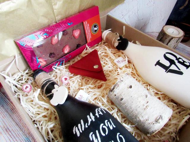 Подарок на День Валентина. Интерьерные вазы. Подарочный набор. Подарок для нее