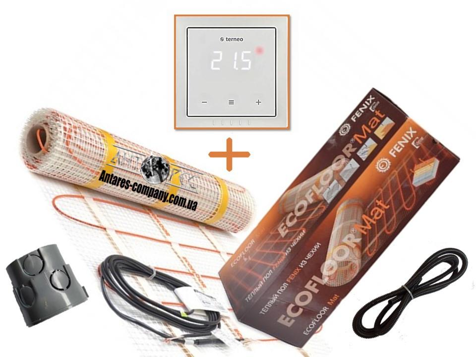 Нагревательный мат Fenix LDTS 12070-165 с сенсорным терморегулятором Terneo S в комплекте (KIT2201)(Премиум)