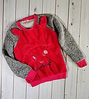 Красивый теплый детский свитер, свитшот, джемпер,очень мягкий и приятный к телу,см.описание