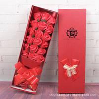 Подарочный букет 17 роз из мыла ручной работы для любимых женщин