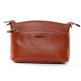 Женская кожаная сумочка-клатч на каждый день коричневая 1-02 2907-6 brown