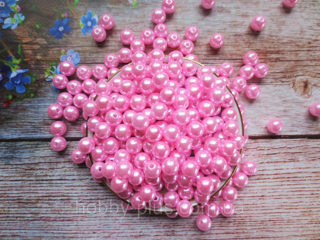 Жемчуг искусственный, 10 мм, цвет розовый, 10 грамм (~20 шт)