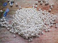 Жемчуг искусственный, 8 мм, цвет белый, 10 грамм, (~40 шт).