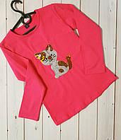 Красивая кофта, туника,реглан,футболка с длинным рукавом для девочки отличного качества,см.описание, фото 1