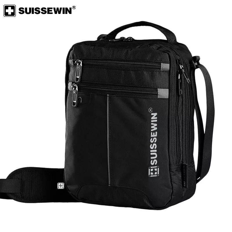 "SUISSEWIN мужская сумка через плечо 10,2 "". Водонепроницаемая сумка 5,5L."