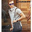 """SUISSEWIN мужская сумка через плечо 10,2 """". Водонепроницаемая сумка 5,5L., фото 10"""