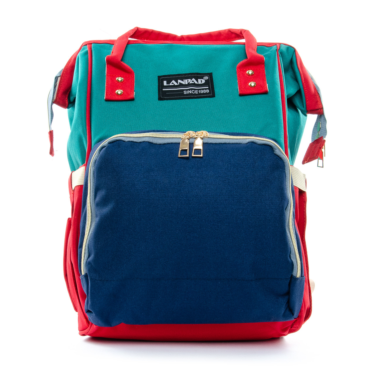 Сумка-рюкзак-органайзер для мамы  Lanpad D900 синий зеленый coral