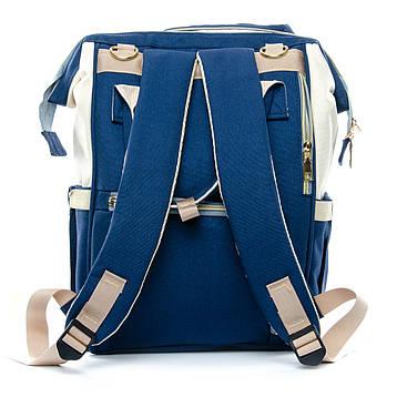 Сумка-рюкзак-органайзер для мамы  Lanpad D900 coral whine синий, фото 2