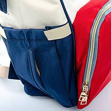 Сумка-рюкзак-органайзер для мамы  Lanpad D900 coral whine синий, фото 3