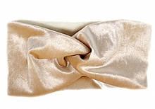Женская повязка велюровая теплая