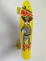"""Скейт Пенни борд (Penny Board) 22"""" Best Board 29661 колёса PU, светятся, d=4.5 см, доска=55 см"""