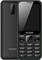 """Мобильный телефон Nomi i284 Dual Sim Black; 2.8"""" (320x240) TN / клавиатурный моноблок / ОЗУ 32 МБ / 32 МБ встроенной + microSD до 8 ГБ / камера 1.3 Мп"""