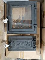 Дверца для печи и барбекю Огонек 275х255мм, печная дверца со стеклом