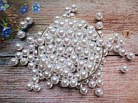 Жемчуг искусственный, 12 мм, цвет белый, 10 грамм, (~12 шт).