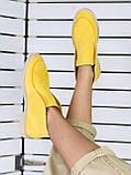 Стильные демисезонные женские ботинки лоферы замшевые, фото 5