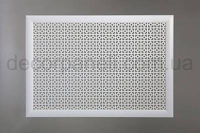 """Решетка для батареи """"Бюджет"""", 60 см х 90 см, цвет белый Эфес"""