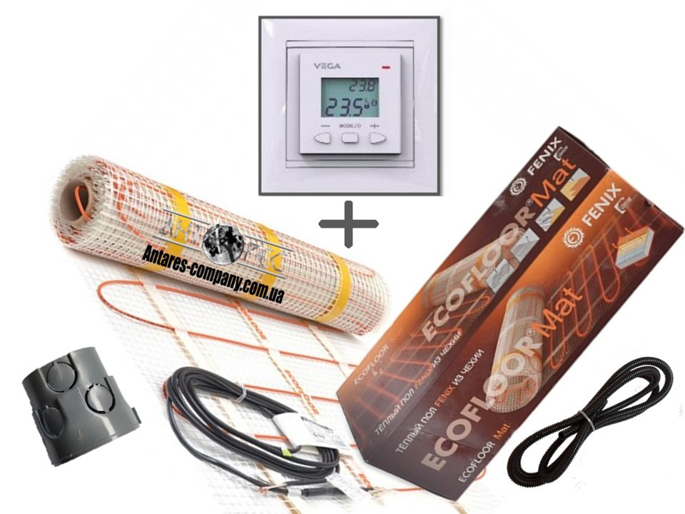 Нагрівальний мат Fenix LDTS 12260-165 з Програмованим терморегулятором VEGA LTC 070 (Преміум)