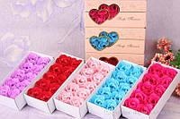 Розы из мыла   (10 роз в подарочной коробке) подарок на 14 февраля