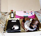 """Подарок для неё на 8 марта - комплимент """"Кофейный клатч"""" с кофе и шоколадом, фото 3"""