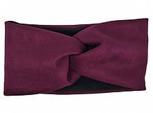 Головная повязка теплая женская