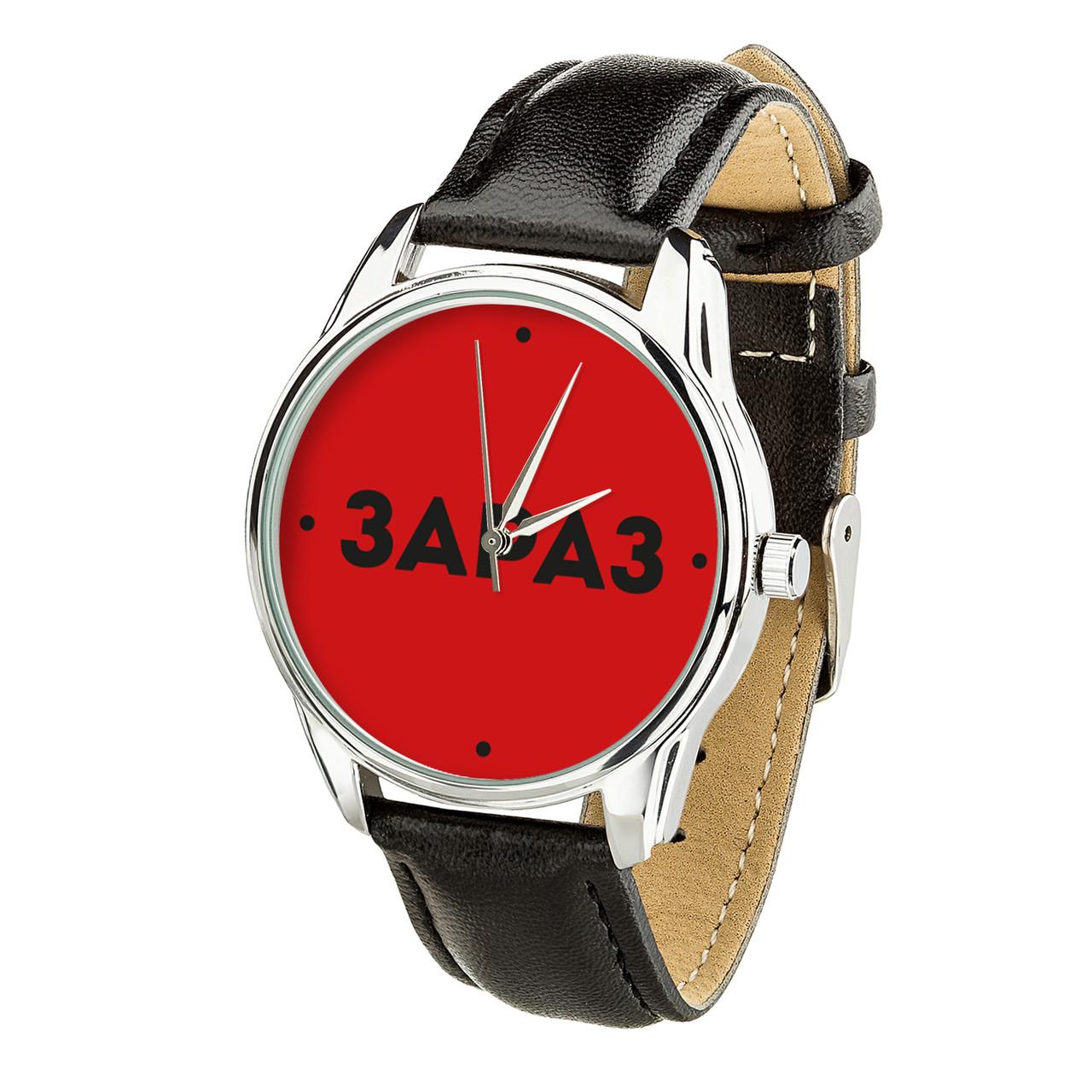 Часы ZIZ Зараз (ремешок насыщенно - черный, серебро) + дополнительный ремешок