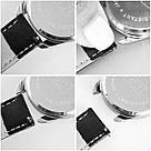 Часы ZIZ Зараз (ремешок насыщенно - черный, серебро) + дополнительный ремешок, фото 5