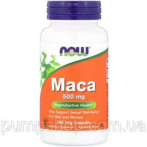 Для повышения тестостерона Now Foods Maca 500 mg 100 капс. (уценка)