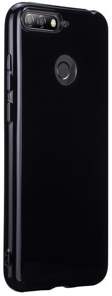 T-phox силиконовая накладка для Huawei Y6 2018 Prime - Crystal (Black)