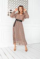 Женское платье из креп-шифона